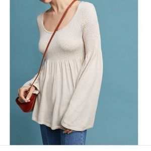 Anthro Knitted & Knotted Esme Bell Sleeve Sweater